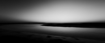 A black and white photograph taken by Manahawkin, NJ, photographer Greg Molyneux of the south facing marshes of Great Bay Boulevard in Little Egg Harbor Township.