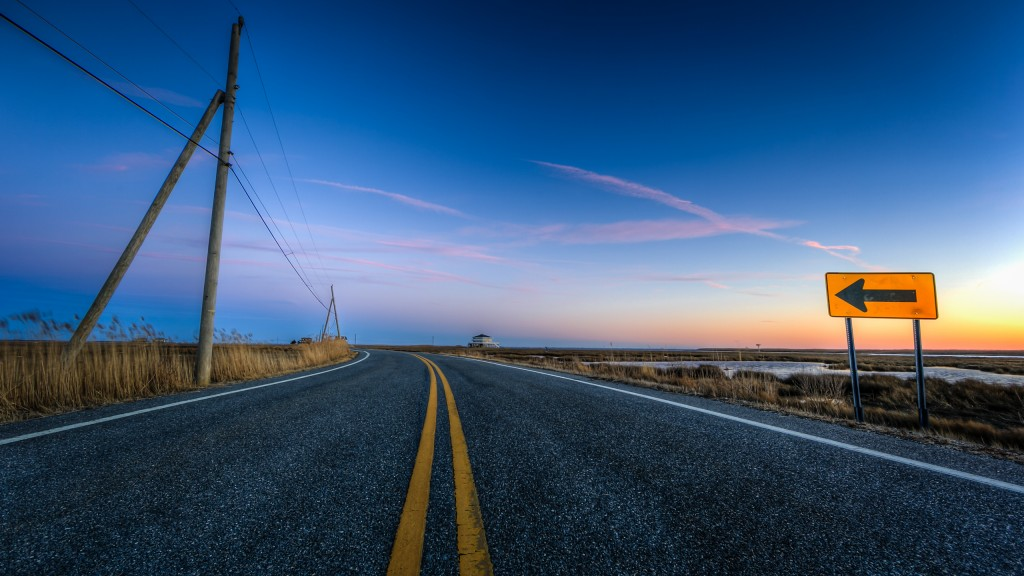 An HDR photograph of the actual pavement of Cedar Run Dock Road taken during blue hour by Manahawkin, NJ, photographer Greg Molyneux.