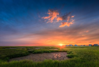 Summer sunset on the salt marsh