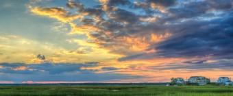 Late summer HDR sunset taken over the south marsh of Cedar Run Dock Road.
