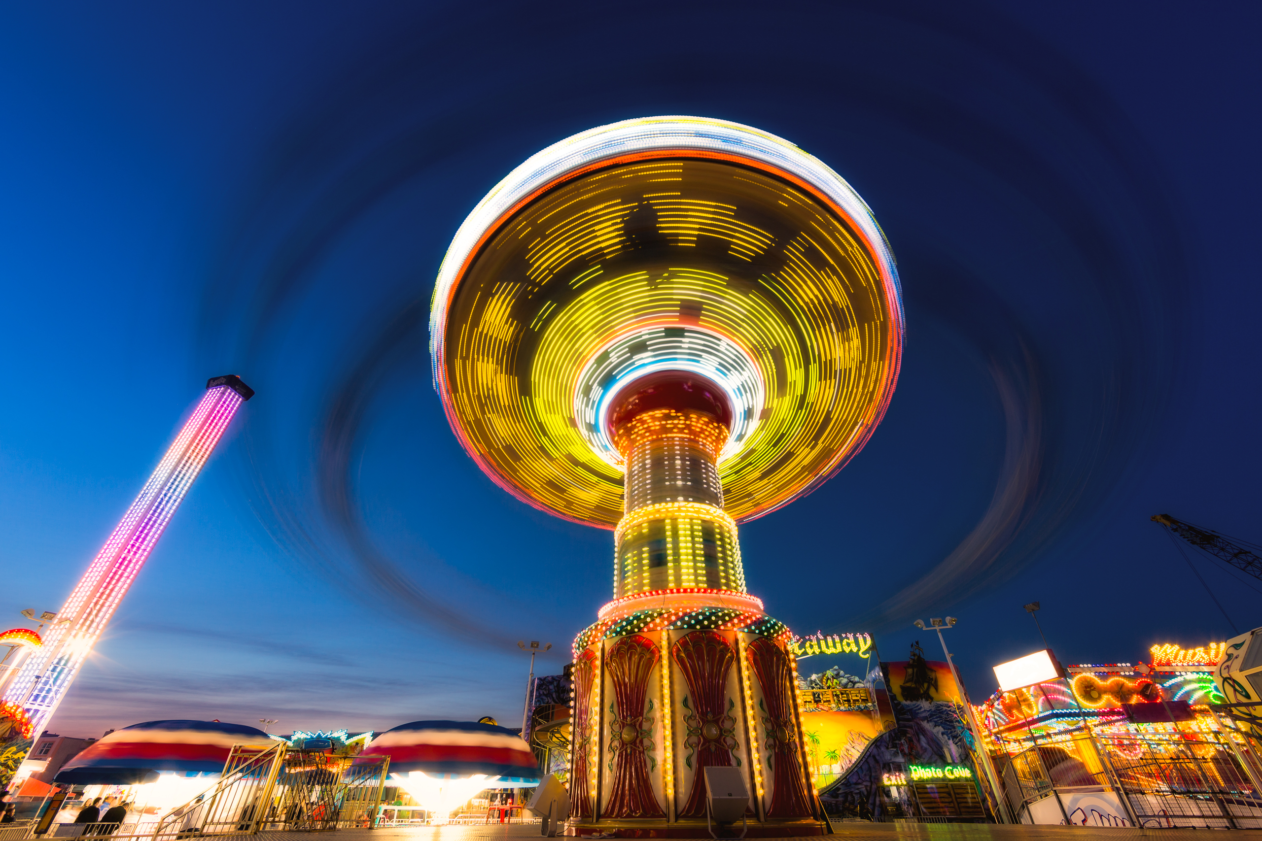 Long Exposure Carnival Swing Photography at Casino Pier ...