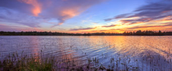 HDR photograph of a pastel sunset at Stafford Forge Wildlife Management Area