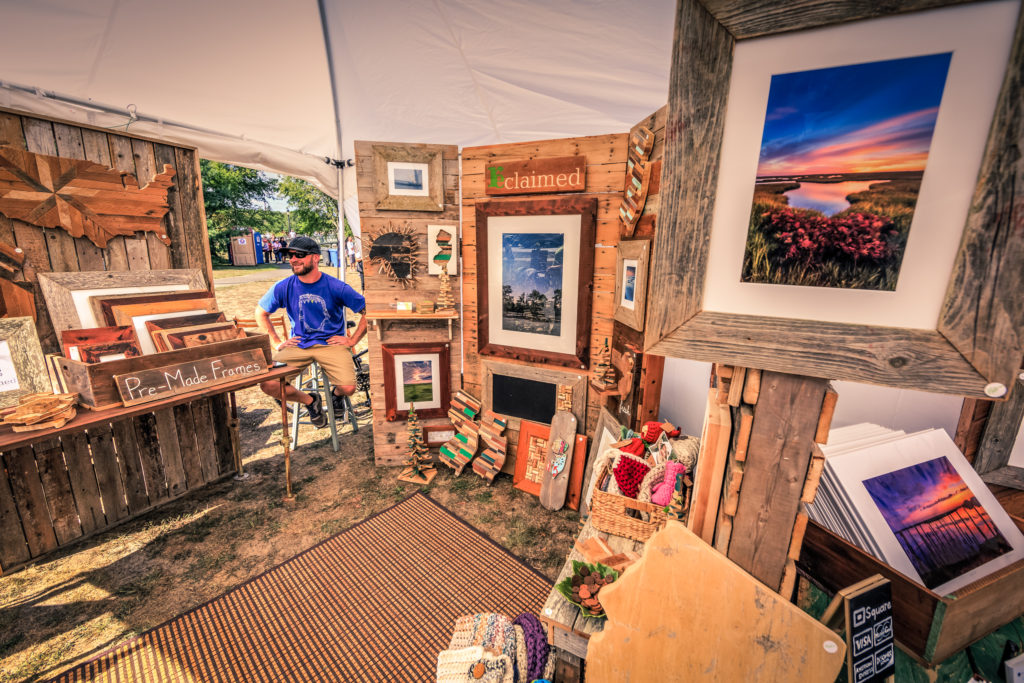 Photo of Reclaimed LLC display tent at The Makers Festival 2016